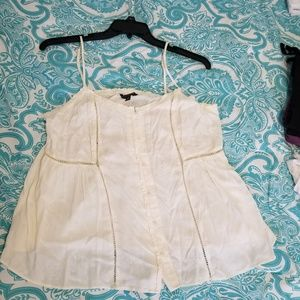 American Eagle Outfitters Tops - American Eagle White Size XL Cami